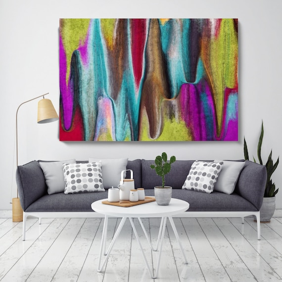 "Abstract Rhythms NO 58. Abstract Paintings Art, Wall Decor, Extra Large Abstract Colorful Canvas Art Print up to 72"" by Irena Orlov"