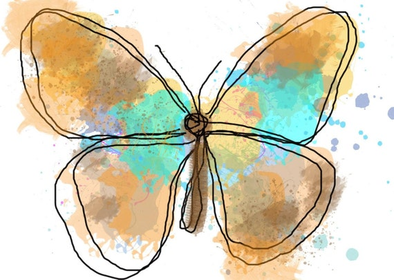 """Butterfly 590 Canvas Print by Irena Orlov 20X16"""" ,large butterfly canvas print, butterfly wall decor, butterfly art print"""