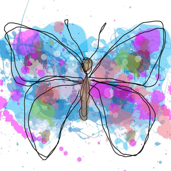 """Butterfly 10.Giclee Print by Irena Orlov. 20 x 20"""""""