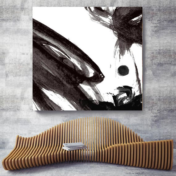 "Change. Contemporary Abstract Black and White, Unique Abstract Wall Decor, Large Contemporary Canvas Art Print up to 48"" by Irena Orlov"
