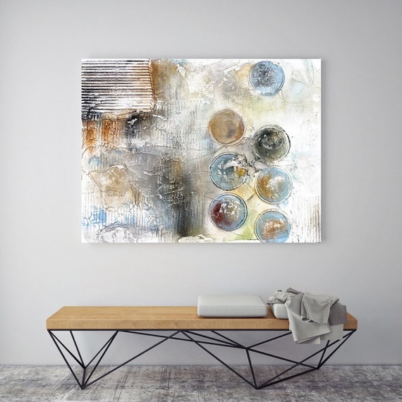 "Circle Abstracts 1. Geometrical Abstract Art, Wall Decor, Large Abstract Colorful Contemporary Canvas Art Print up to 72"" by Irena Orlov"