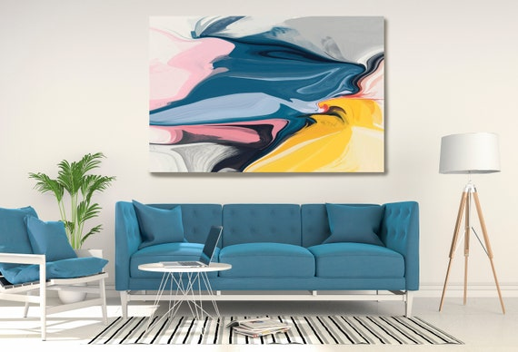The Combined Result, Large Abstract Art, Abstract Canvas Print Large Modern Abstract Wall Art, Abstract Painting,