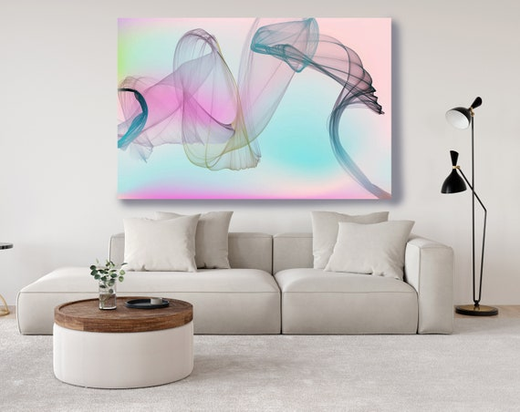 Pink Abstract Gradient Flow Modern Abstract Wall Art Decor Abstract Canvas Print Modern Trendy Wall art Luxury Abstract Painting, Minimalist