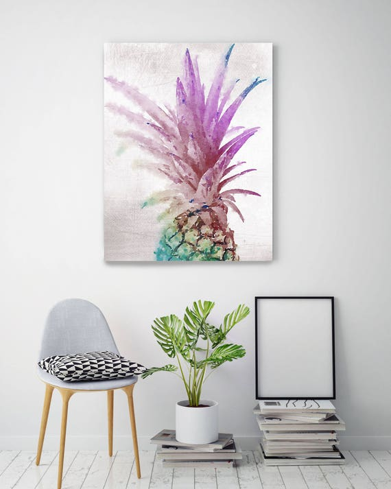 "Colorful Pineapple. Pineapple Painting Print, Wall Decor Large Colorful Pineapple Contemporary Canvas Art Print up to 72"" by Irena Orlov"