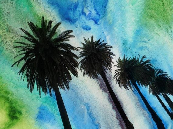 """Santa Monica Palms .  Canvas Print by Irena Orlov 40x30"""""""