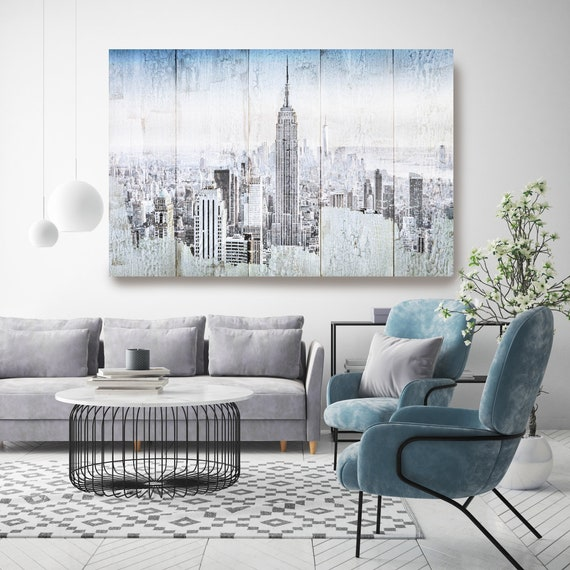 New York Urban, Empire State Building Cityscape Art, Urban Art, City Wall Art, Urban Wall Art,Large Painting City, Urban Canvas Art Print