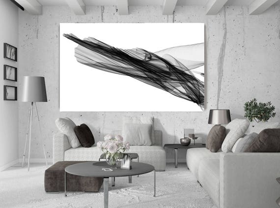 "Abstract Black and White 20-23-07. Contemporary Unique Abstract Wall Decor, Large Contemporary Canvas Art Print up to 72"" by Irena Orlov"