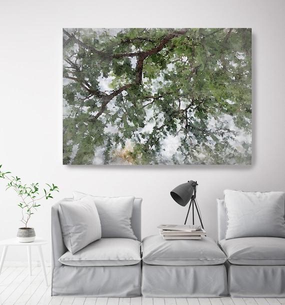 Forest landscape green painting, landscape watercolor Landscape Painting Canvas Print Landscape Art, Landscape Painting Print Fine Art Scene