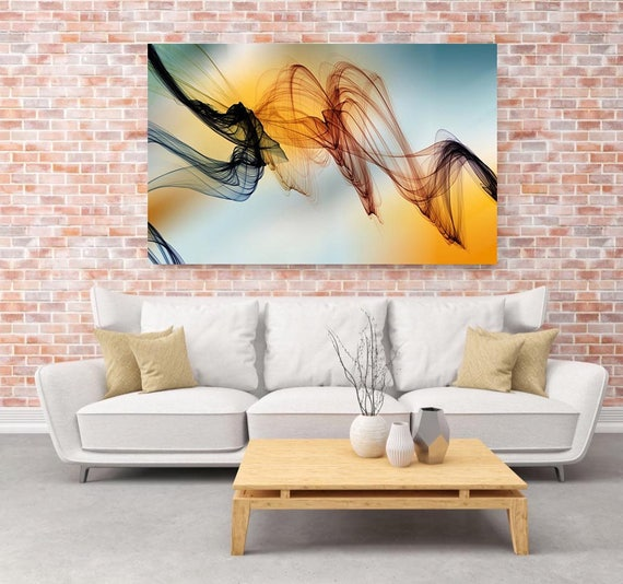 "The Invisible World-Movement 14, Abstract New Media Art, Wall Decor, Extra Large Abstract  Canvas Art Print up to 72"" by Irena Orlov"