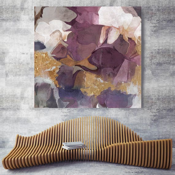 """Purple Gold Mix. Abstract Paintings Art, Wall Decor, Extra Large Abstract Colorful Contemporary Canvas Art Print up to 48"""" by Irena Orlov"""