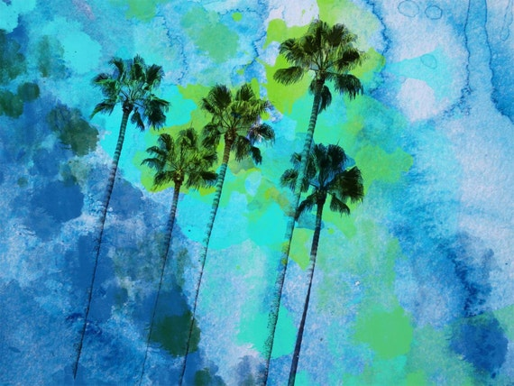 Palm trees on the beach. Canvas Print by Irena Orlov 40x30""
