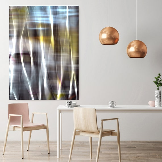 "Mysterious Light 72-1, Neon Blue Yellow Pink Contemporary Wall Art, Extra Large New Media Canvas Art Print up to 72"" by Irena Orlov"