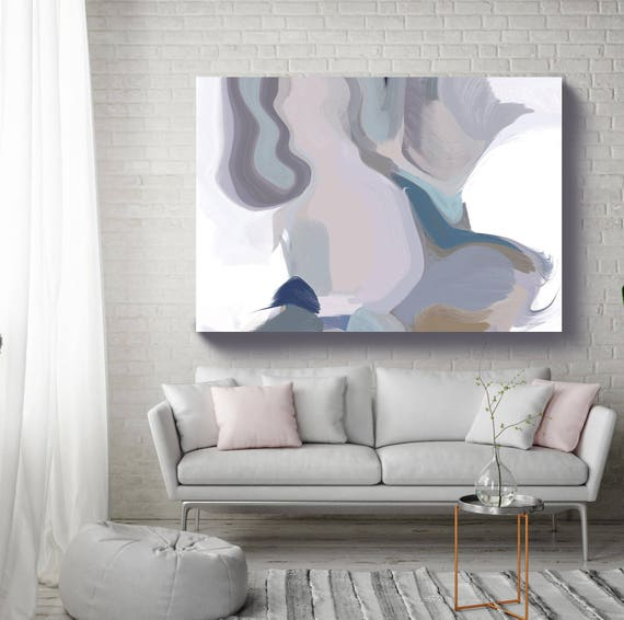 """An artic moon II. Abstract Paintings Art, Wall Decor, Extra Large Abstract Colorful Contemporary Canvas Art Print up to 72"""" by Irena Orlov"""
