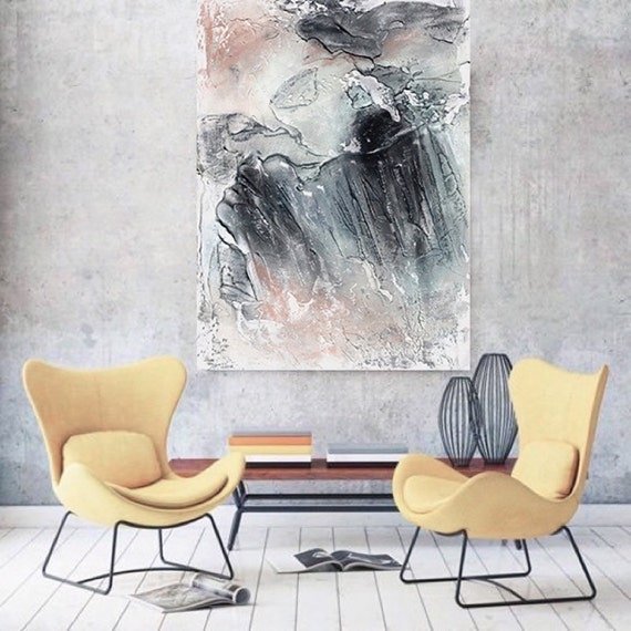 "Morning Walk. Abstract Paintings Art, Wall Decor, Extra Large Abstract Colorful Contemporary Canvas Art Print up to 72"" by Irena Orlov"