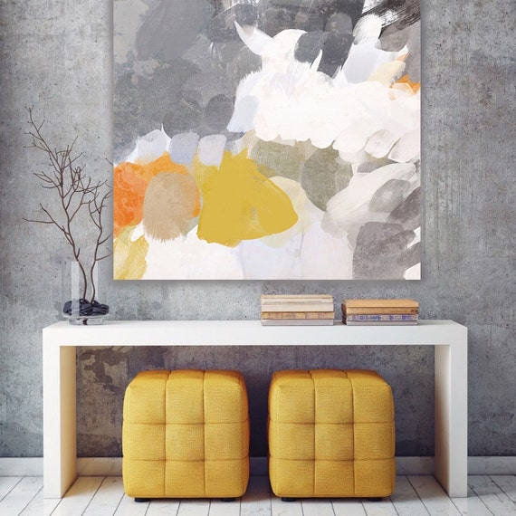 """ORL-6916-1 Mix of Colors 7. Abstract Paintings Art, Wall Decor, Extra Large Abstract Colorful Canvas Art Print up to 48"""" by Irena Orlov"""