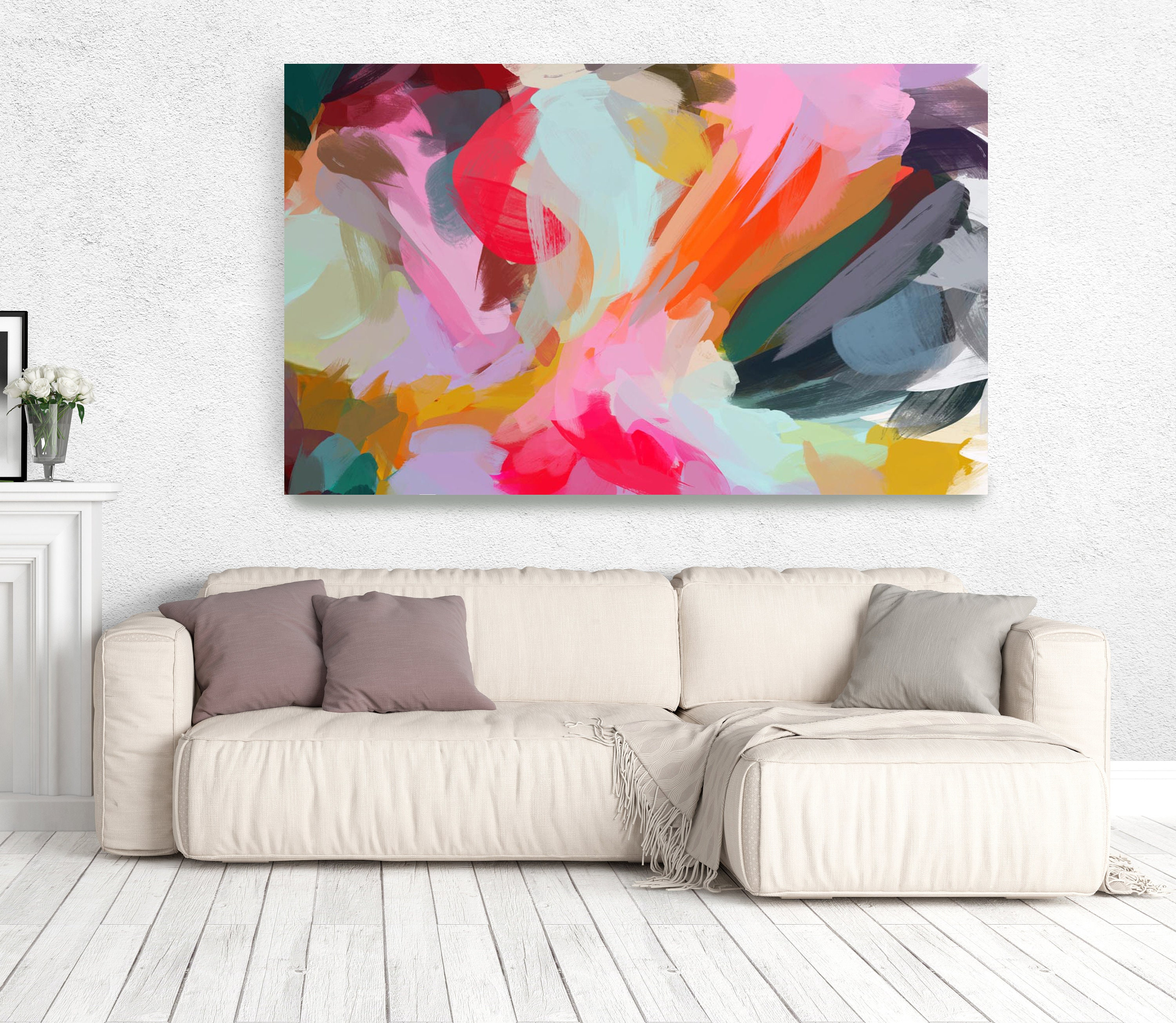 The Color Movement 9 Abstract Art Canvas Print Living Room