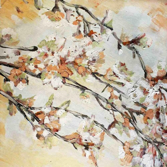 """Blooming cherry. Canvas Print by Irena Orlov 30"""" x 30"""""""