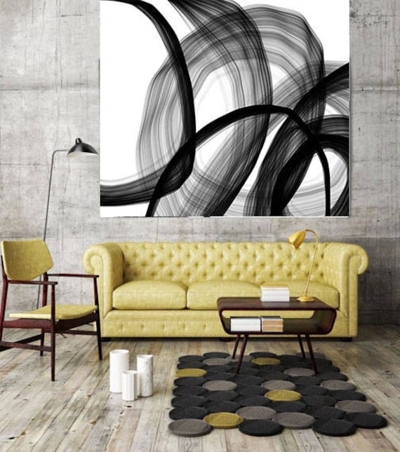 "ORL-6418 Moods or Emotions. New Media Abstract Black and White Canvas Art Print, Canvas Art Print up to 50"" by Irena Orlov"