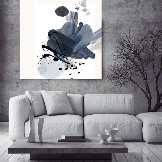 "Blue Splash. Abstract Paintings Art, Wall Decor, Extra Large Abstract Colorful Contemporary Canvas Art Print up to 48"" by Irena Orlov"