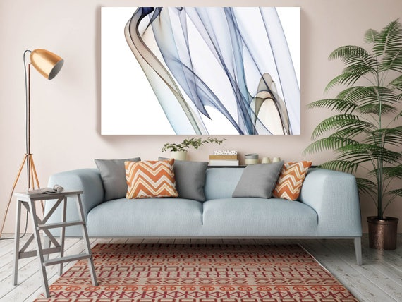 """The Invisible World-Movement12_57_16, Abstract New Media Art, Wall Decor, Extra Large Abstract  Canvas Art Print up to 72"""" by Irena Orlov"""