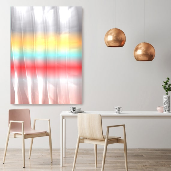 "Mysterious Light 15, Neon Red Blue Yellow Pink Contemporary Wall Art, Extra Large New Media Canvas Art Print up to 72"" by Irena Orlov"