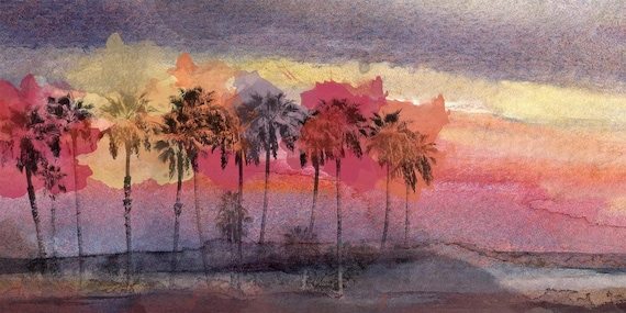"California Sunset . Canvas Print by Irena Orlov 48"" x 20"""