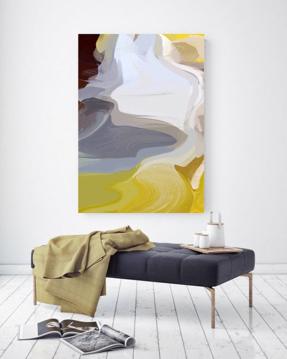 """New beginnings. Abstract Paintings Art, Wall Decor, Extra Large Abstract Colorful Contemporary Canvas Art Print up to 72"""" by Irena Orlov"""