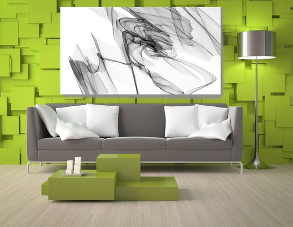 "Abstract Black and White 20-48-41. Contemporary Unique Abstract Wall Decor, Large Contemporary Canvas Art Print up to 72"" by Irena Orlov"