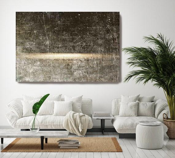 Seascape painting, golden landscape art, coastal rustic landscape painting Watercolor Canvas Art Print Sunrise Field of Dreams
