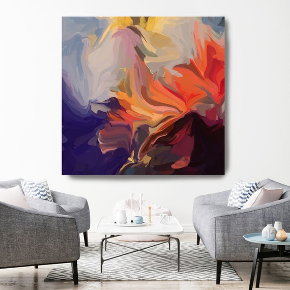Once Upon A Summertime, original art, abstract art, acrylic painting, canvas painting, extra large wall art, original painting, canvas print