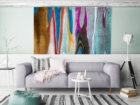 """Abstract Rhythms NO 36. Abstract Paintings Art, Wall Decor, Extra Large Abstract Colorful Canvas Art Print up to 72"""" by Irena Orlov"""