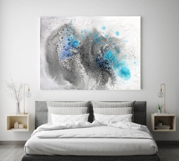 "Coastal Watercolor Abstract 73. Watercolor Abstract Blue Black Canvas Art Print, Watercolor Painting Print up to 72"" by Irena Orlov"
