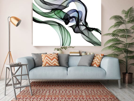 "The Invisible World-Movement14_55_58, Abstract New Media Art, Wall Decor, Extra Large Abstract  Canvas Art Print up to 72"" by Irena Orlov"