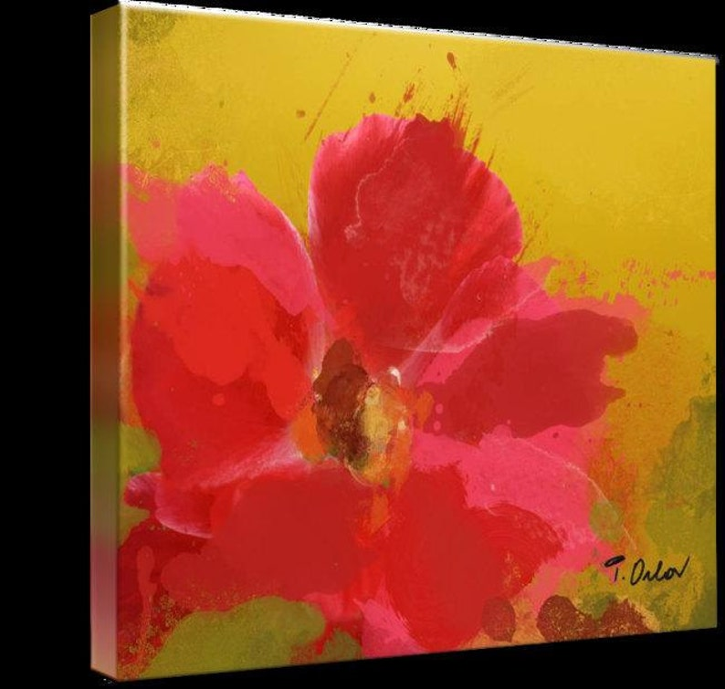Floral Painting Red  floral affection Large Abstract Colorful Contemporary Canvas Art Print up to 72 by Irena Orlov Red Abstract Art