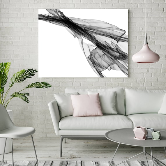 "Abstract Black and White 19-52-42. Unique Abstract Wall Decor, Large Contemporary Canvas Art Print up to 72"" by Irena Orlov"