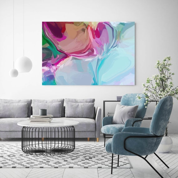 Spontaneous Adventure, Blue Large abstract painting Original abstract painting Canvas painting Canvas Print Original painting Large Wall Art