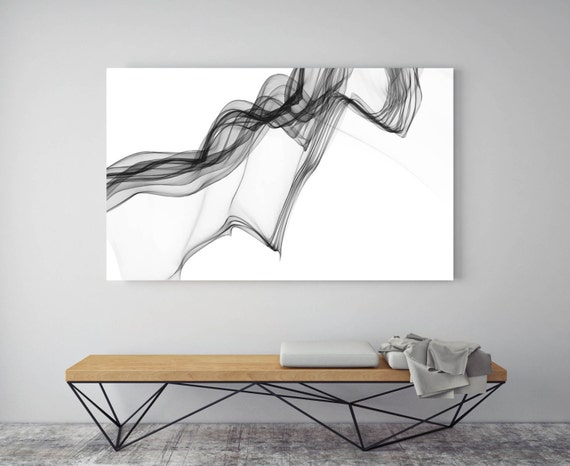 """ORL-7294 Abstract Expressionism in BW 15. Abstract Black and White, Wall Decor, Large Contemporary Canvas Art Print up to 72"""" by Irena Orlov"""
