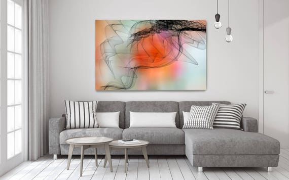 "Fire And Ice. Abstract Paintings Art, Wall Decor, Extra Large Abstract Colorful Contemporary Canvas Art Print up to 72"" by Irena Orlov"