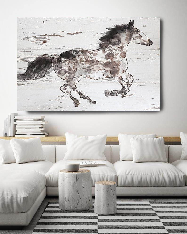 Art Running Horse Painting