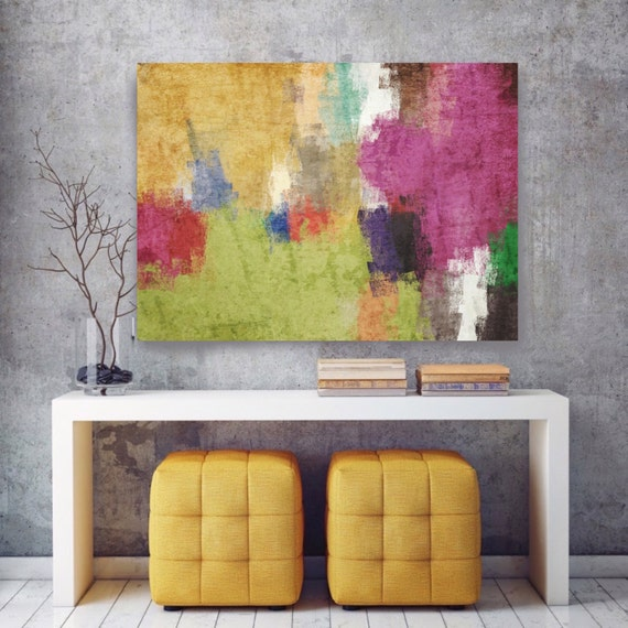 """Kaleidoscope N 62-2. Abstract Paintings Art, Wall Decor Extra Large Abstract Colorful Contemporary Canvas Art Print up to 72"""" by Irena Orlov"""