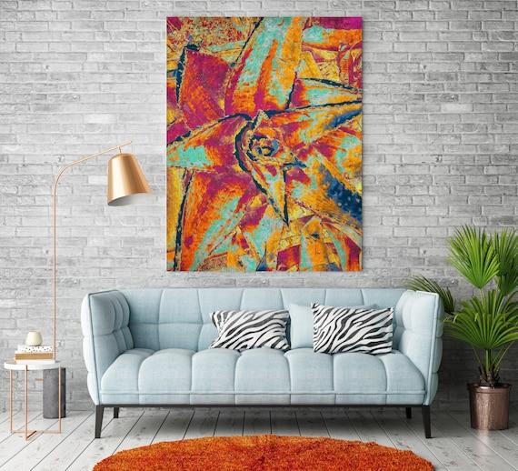 The desert flora. Agave art, agave canvas, agave art print, red agave art, cactus decor, cactus canvas print Agave prints, agave painting
