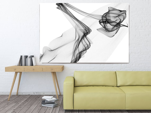 "Abstract Black and White 19-13-38. Contemporary Unique Abstract Wall Decor, Large Contemporary Canvas Art Print up to 72"" by Irena Orlov"