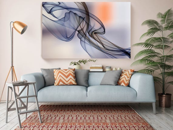 "The Invisible World-Movement 22, Abstract New Media Art, Wall Decor, Extra Large Abstract  Canvas Art Print up to 72"" by Irena Orlov"