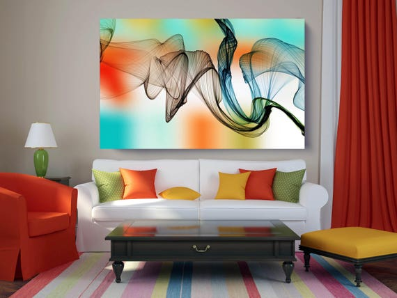 "The Invisible World-Movement 4, Abstract New Media Art, Wall Decor, Extra Large Abstract  Canvas Art Print up to 72"" by Irena Orlov"