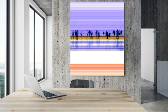 "Going To Work, Violet Art for Your Office, Office Wall Art Corporate Office Decor, Extra Large Canvas Art Print up to 72"" by  Irena Orlov"