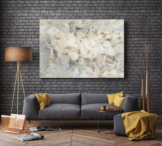 """ORL-8006-1 In Love with Spring. Floral Painting, White Abstract Art Abstract Colorful Contemporary Canvas Art Print up to 72"""" by Irena Orlov"""