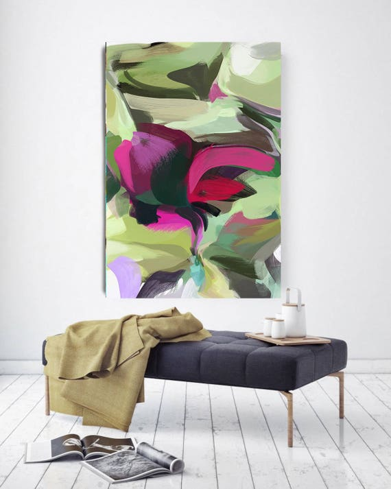 "Evening Serenity II. Abstract Paintings Art, Wall Decor Extra Large Abstract Colorful Contemporary Canvas Art Print up to 72"" by Irena Orlov"