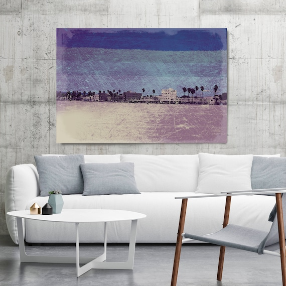 """Afternoon at Venice Beach 4. Extra Large Architectural Canvas Art Print. Rustic Brown URBAN Canvas Art Print up to 72"""" by Irena Orlov"""