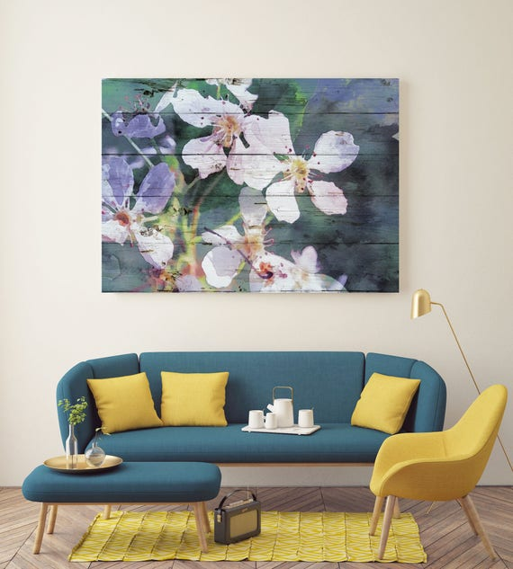 "Wonderful White Blooming Flowers. Floral Painting, White Abstract, Abstract Colorful Contemporary Canvas Art Print up to 72"" by Irena Orlov"