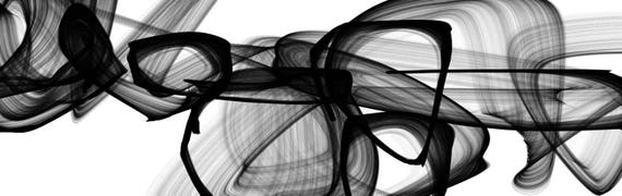 """I Exist. Abstract Black and White, Contemporary Unique Abstract Wall Decor, Large Contemporary Canvas Art Print 117 x 37"""" by Irena Orlov"""